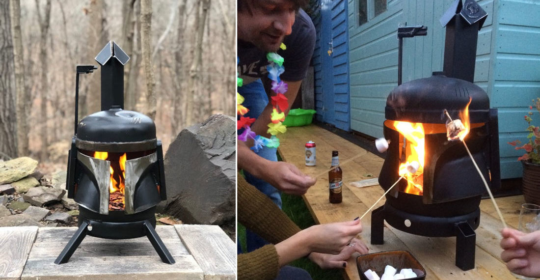 It Was Only A Matter Of Time: A Boba Fett Helmet Fire Pit