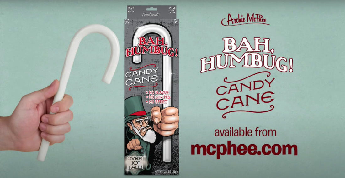 The Bah Humbug Colorless, Flavorless Candy Cane