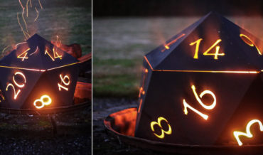 Roll To See Who Catches Fire: A D20 Fire Pit