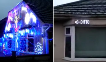 Classic: The Ol' 'Ditto' Christmas Lights Next To An Overexuberant Neighbor's House