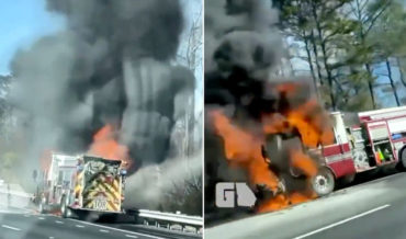 Goodbye, 2020: Firetruck Burning On The Side of The Highway