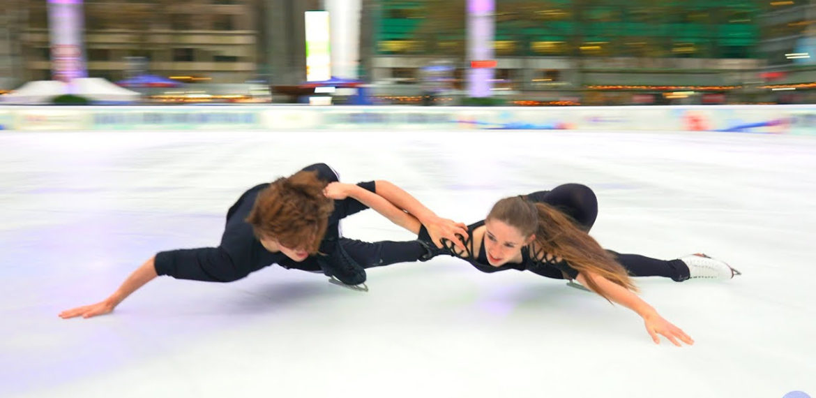Ice Dancers Perform To Metallica's 'Nothing Else Matters'