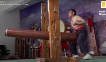 The Dying Art Of 'Iron Crotch' Kung Fu (Taking Crotch Hits With A Battering Ram)