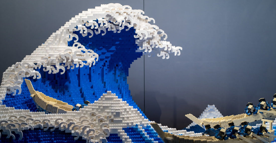 A Stunning LEGO Recreation Of Classic Japanese Woodblock Print 'The Great Wave'