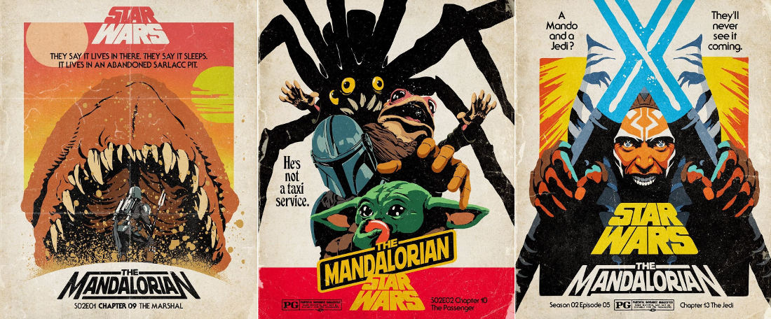 Mandalorian Season 2 Quotes Reimagined As Tag Lines For Vintage Movie Posters