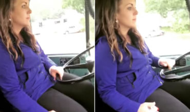 Woman Gives Masterclass In Quick-Shifting A Semi Truck