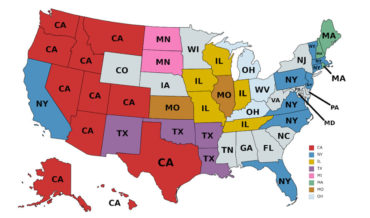 The US Map Of Where The Most Out-Of-State Residents Of Each State Come From