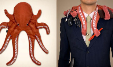 A Wearable Octopus Scarf With Tentacles For Holding Things