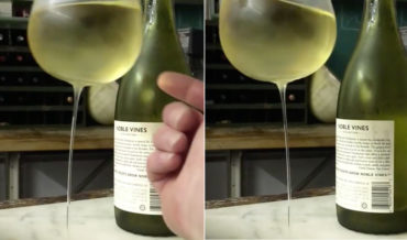What The?: A Wine Glass With Stem So Thin The Bowl Wobbles Back And Forth