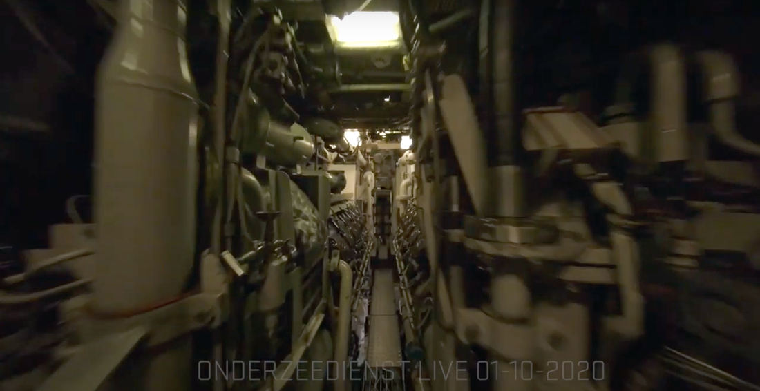 Drone Pilot Maneuvers His Copter Through The Cramped Quarters Of A Submarine