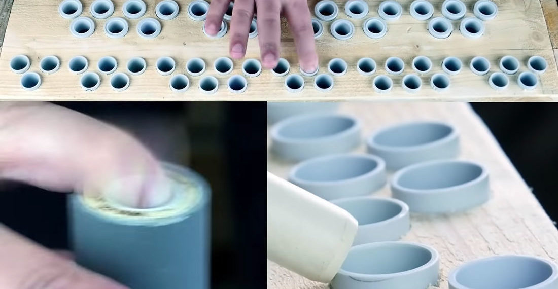 Guy Makes PVC Instrument That Sounds Like Popping Your Finger Out The Top Of A Bottle