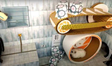 Awww: Hamster Navigates Portal Themed Test Chambers Constructed By Owner