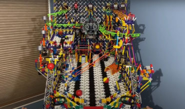 Guy Builds Insanely Impressive Fully Functional Pinball Machine Out Of K'NEX