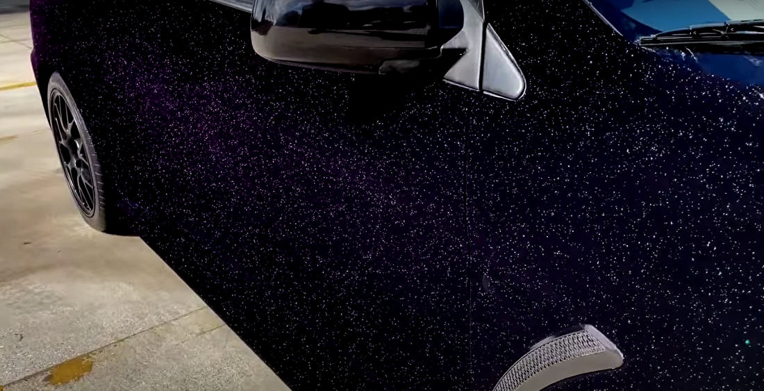 Car Painted With The Blackest Black Paint And Hypershift Topcoat Looks Like A Galaxy