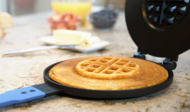 The Panwaffle Iron, For Making A Waffle In The Middle Of A Pancake