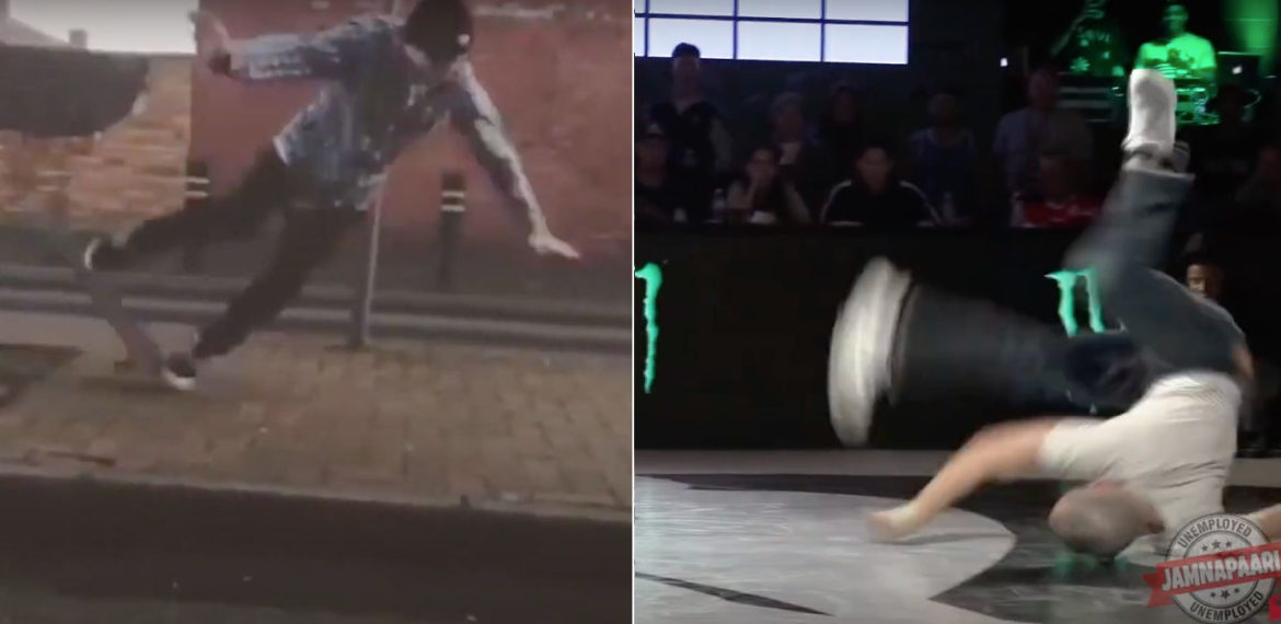 Skateboarding Crashes Replaced With Breakdancing Moves