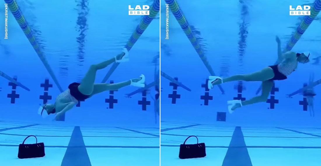 Synchronized Swimmer Demonstrates Her Incredible Underwater Dance Skills