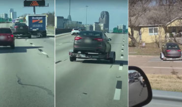Uh-Oh: Trailer Passes The Moving Van That Was Towing It