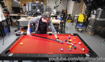 Engineer Makes Pool Cue That Automatically Makes Shots For Easy Pool Sharking