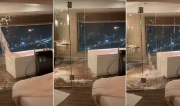 Holy Smokes: Water Splashing Out Of Highrise Bathtub During Earthquake
