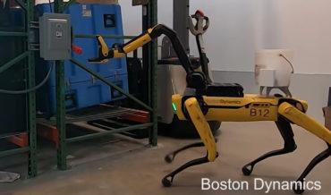 Boston Dynamics' Spot Quadruped Robot Demonstrates Its Grabbing Abilities