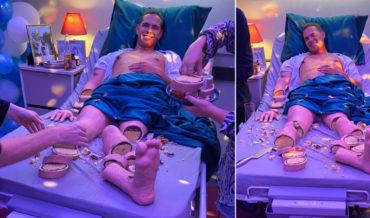Freaky Deaky: Half Man, Half Realistic Cake-Man In Hospital Bed