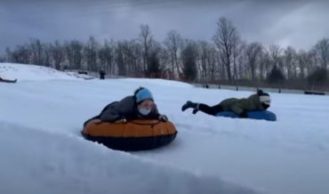 Guy's Casual Footage Of Snow Tubing Turns Into Cinematic Masterpiece