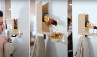Happy Hour: A Coat Hook That Pours A Shot When You Get Home
