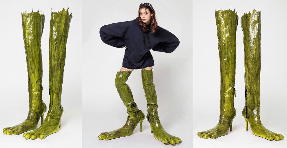 Freaky Deaky Frog Leg Ladies Boots