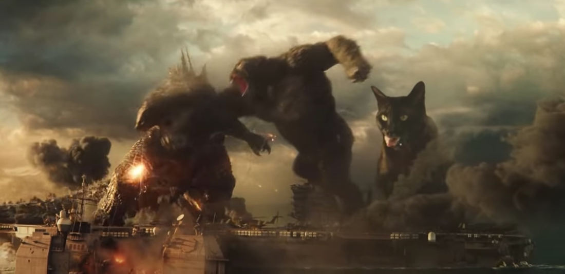 Guy Adds His Cat Wayne To 'Godzilla Vs Kong' Trailer