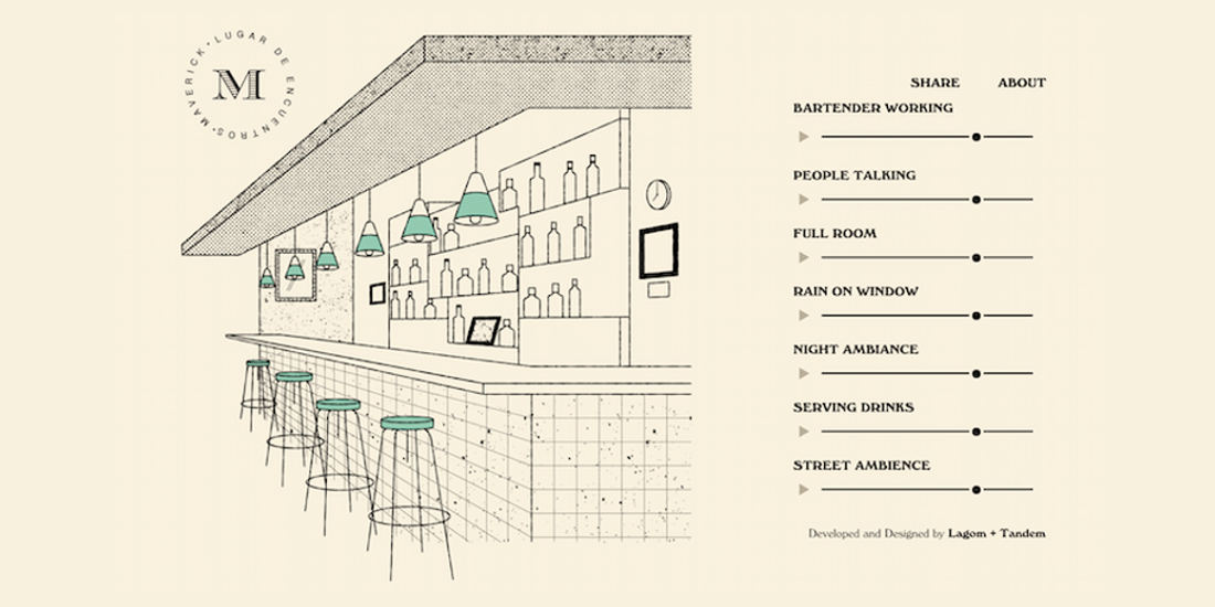 'I Miss My Bar' Interactive Website Allows You To Recreate The Ambient Noise Of A Bar