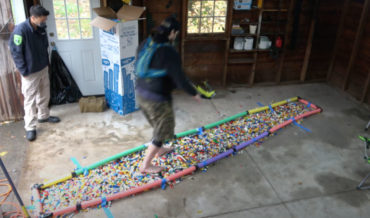 2.415 Miles: Guy Sets Record For Longest Distance Walked Barefoot On LEGO Bricks