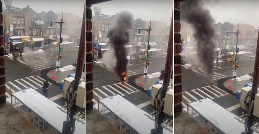 Fire In The Hole!: Manhole Explodes And Smokes In Astoria, Queens