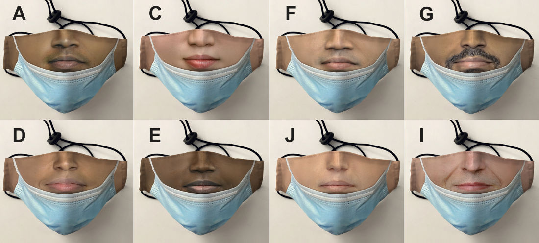 Realistic Face Mask That Looks Like You're Wearing A Face Mask Under Your Chin
