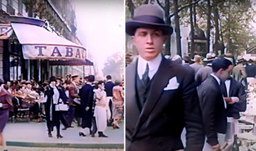 AI Restored, Colorized Footage Of Cafe Life In Paris, 1920's