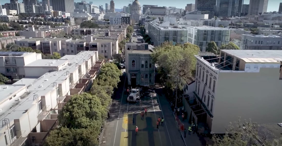 Video Of 139-Year Old Victorian Home Being Moved Six Blocks In San Francisco