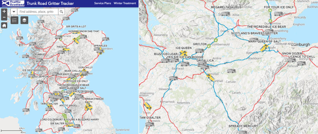 Scotland Gives All Its Snowplows Funny Names, Website To Track Them In Real-Time