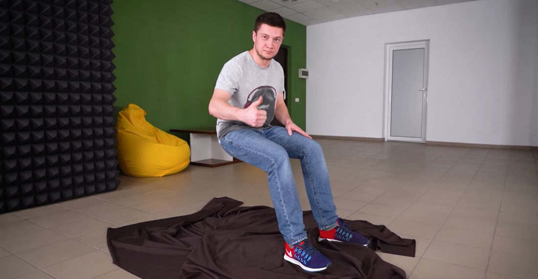 Engineer Builds And Demonstrates 'Sitting On Air' Illusion