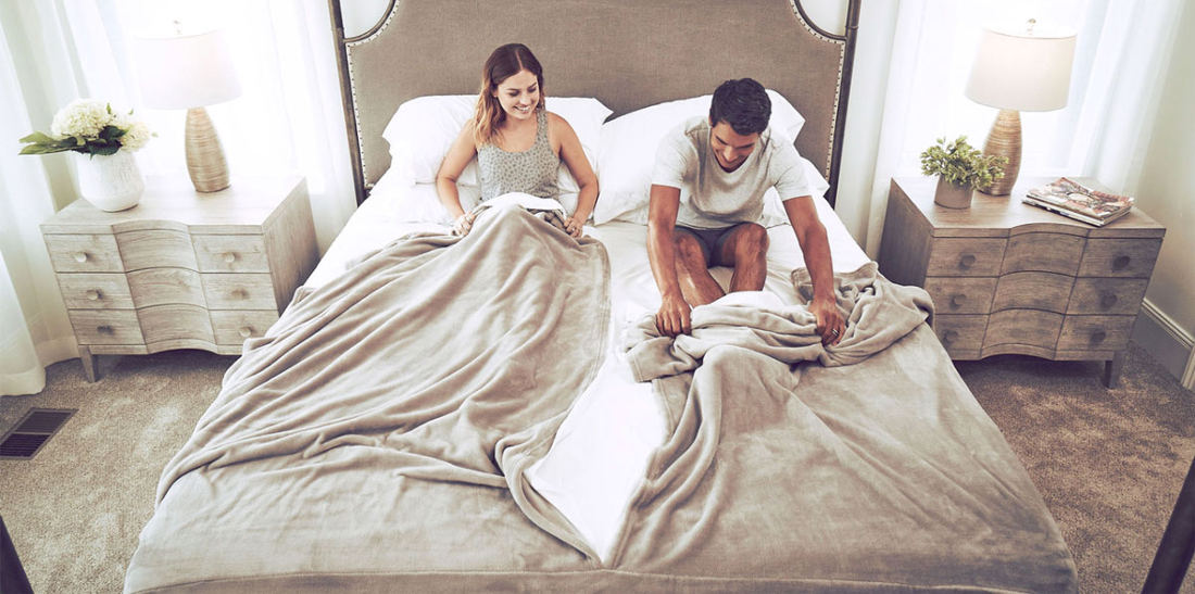 Real Products That Exist: Split Blanket And Sheet Sets For Couples