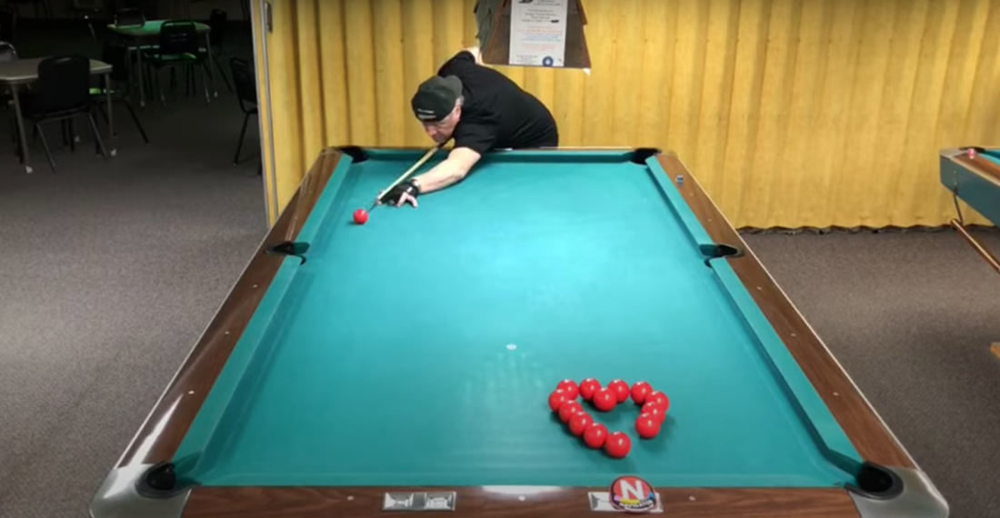 Pool Shark's Valentine's Day Inspired Heart Shaped Trick Shots