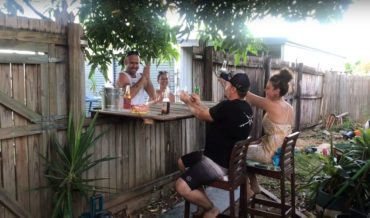Nice: Man Mods Backyard Fence With Fold-Down Top To Create Bar With Neighbors