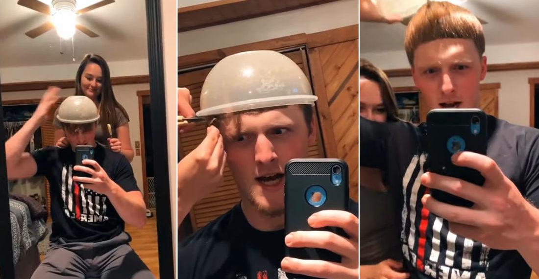 Girlfriend Gives Boyfriend A Legitimate Bowl Cut