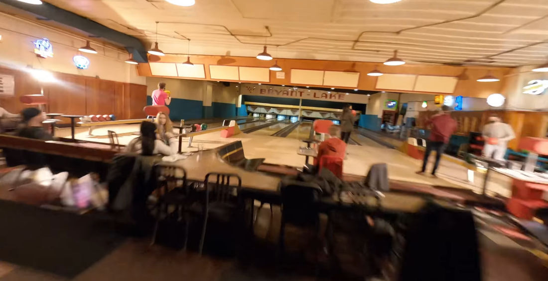 Stunning One-Take Drone Fly Through Of A Vintage Bowling Alley