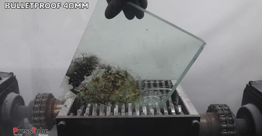 Industrial Shredder Vs Bulletproof Glass