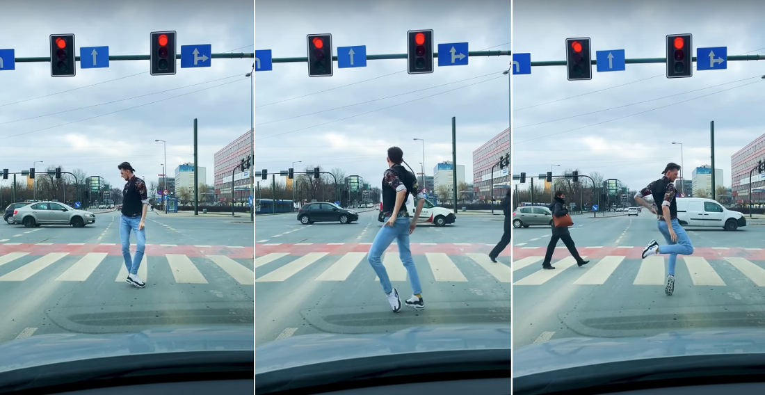 Smooth As Silk: Dancer Demonstrates Mind-Bogglingly Smooth Moves At Red Light