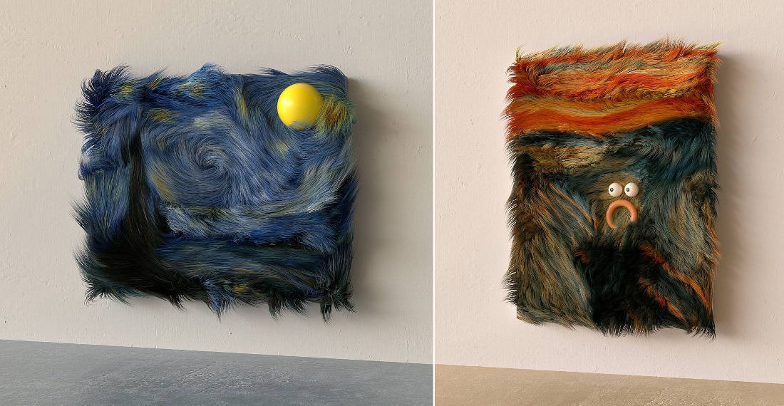 Okaaaay: Famous Artworks Reimagined In Fur