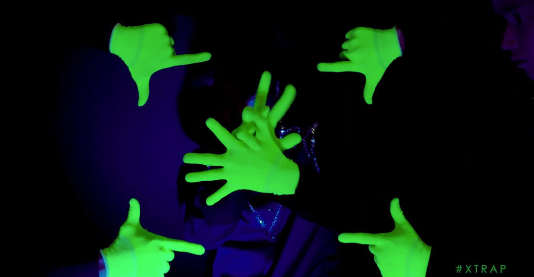 Impressive Glow In The Dark Synchronized Finger Dancing Routine