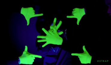 Impressive Glow In The Dark Synchronized Finger Dancing Routine