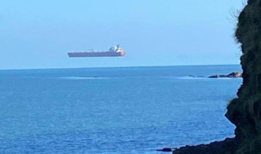 Man Captures Photo Of Rare Hovering Ship Illusion