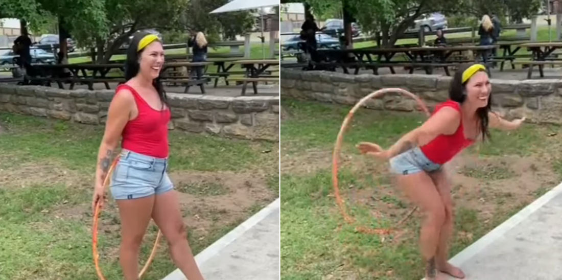 Now That's What I Call Talent: Woman Hula Hooping With Her Butt